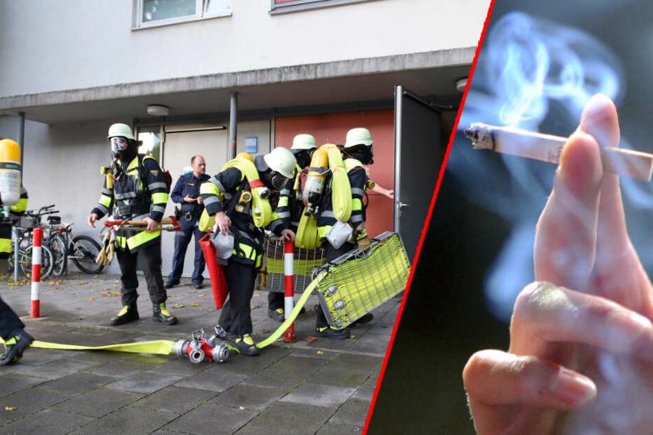 Weil er im Schlafzimmer geraucht hat: Mann stirbt nach Zimmerbrand