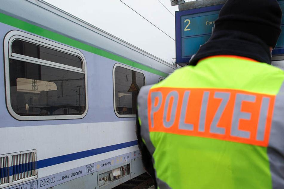Am Dienstagabend entdeckten Bundespolizisten einen gesuchten Vergewaltiger in einem Zug. (Symbolbild)