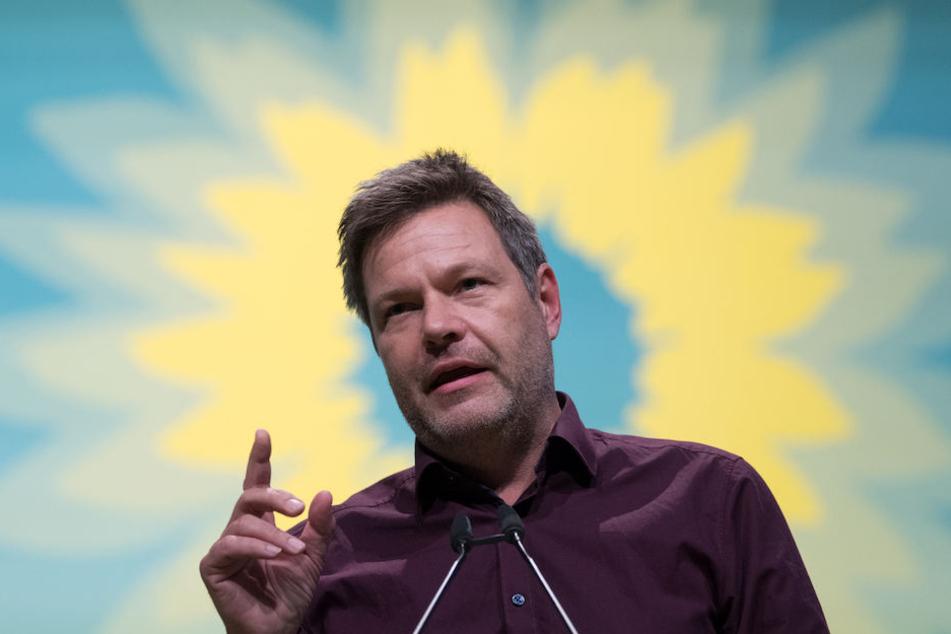 Nein, Partei-Chef Robert Habeck (49) hat bei den Grünen noch keinen Heiligenschein - vielleicht nach der nächsten Bundestagswahl.