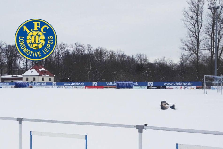 Auf diesem Platz kann keiner spielen: Auftaktspiel fällt aus für Lok Leipzig