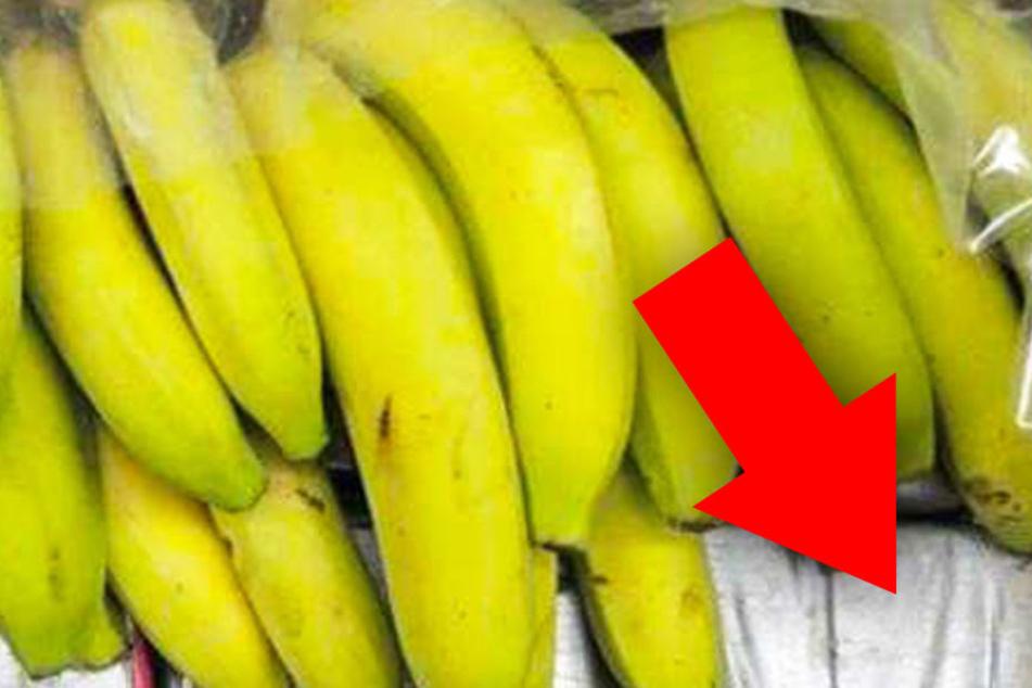 Kaum zu glauben, was hier unter den Bananen versteckt wurde