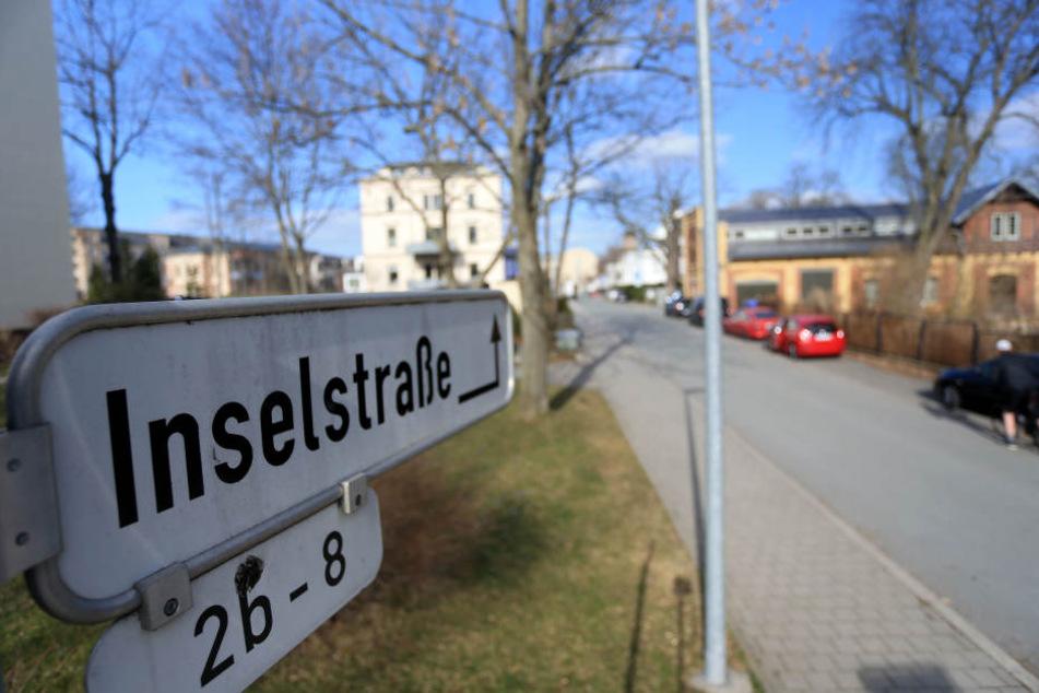 In der Inselstraße in Schlosschemnitz will die Stadt eine neue Tempo-30-Zone  einrichten.