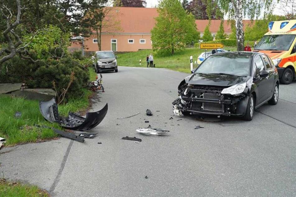 Der Citroën wurde erheblich beschädigt.
