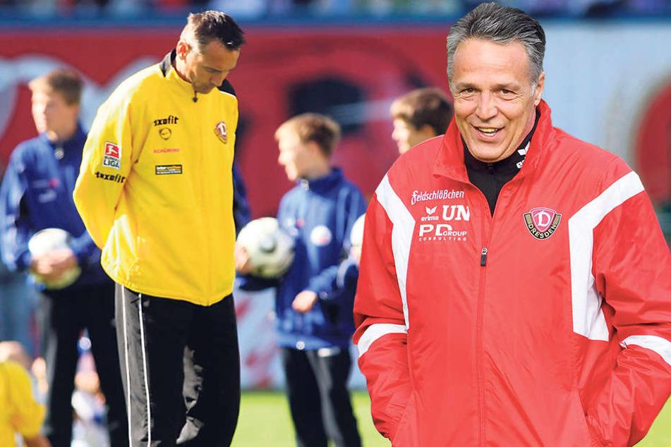 Kopf runter: Peter Pacult (li.) konnte 2006 den Abstieg aus der 2. Liga nichtverhindern. Alter Trainerfuchs: Uwe Neuhaus (re.) weiß genau, wie schwer das zweite Jahr werden kann.
