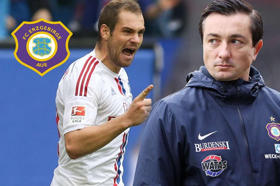 """Aue-Coach Meyer verspricht: """"Lasogga soll keinen Spaß haben"""""""