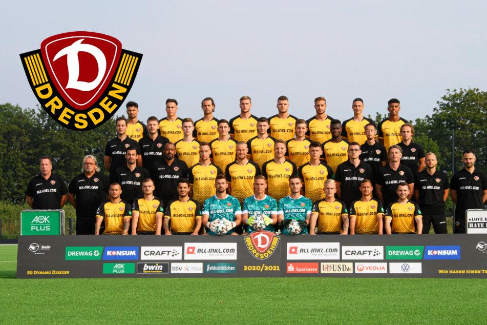 Dynamos Mannschaftsfoto ist im Kasten!