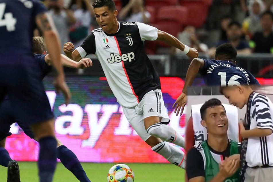 Nach Auswechslung: Ronaldo mit unglaublicher Geste für einen jungen Fan!