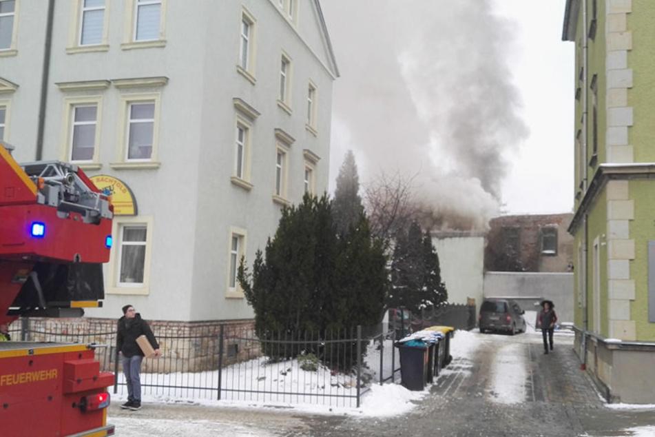 Am Freitagmittag brach in Cotta ein Feuer aus.