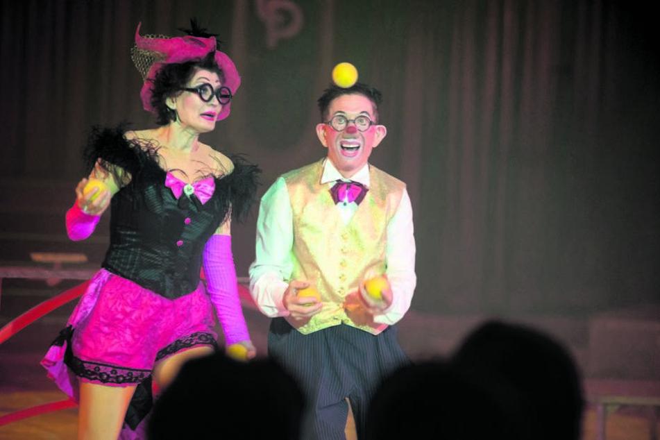 Spaßmacher in der Manege: Die Clowns Olga und Slobi sorgten für jede Menge Lacher.