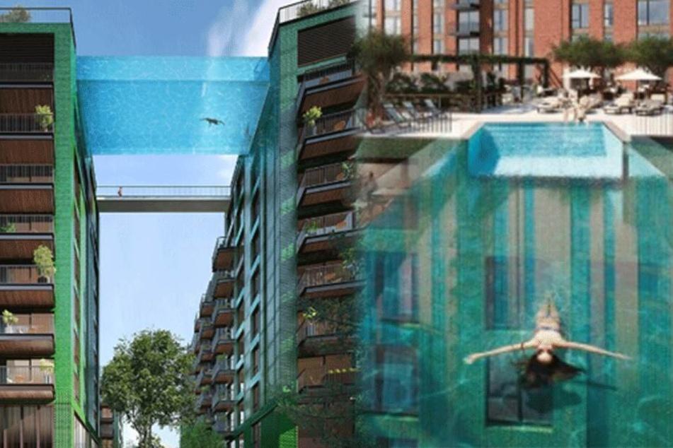 """Schwimmen im Himmel: Hier entsteht der weltweit erste """"Sky Pool"""""""