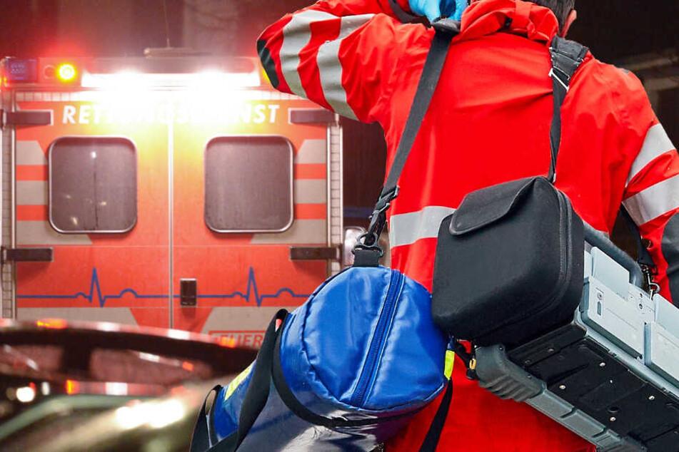 Der Rettungsdienst brachte die Verletzten in ein Krankenhaus (Symbolbild).