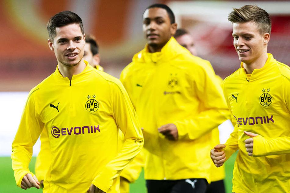 Dzenis Burnic (r.) wechselte von Borussia Dortmund zu Dynamo Dresden.
