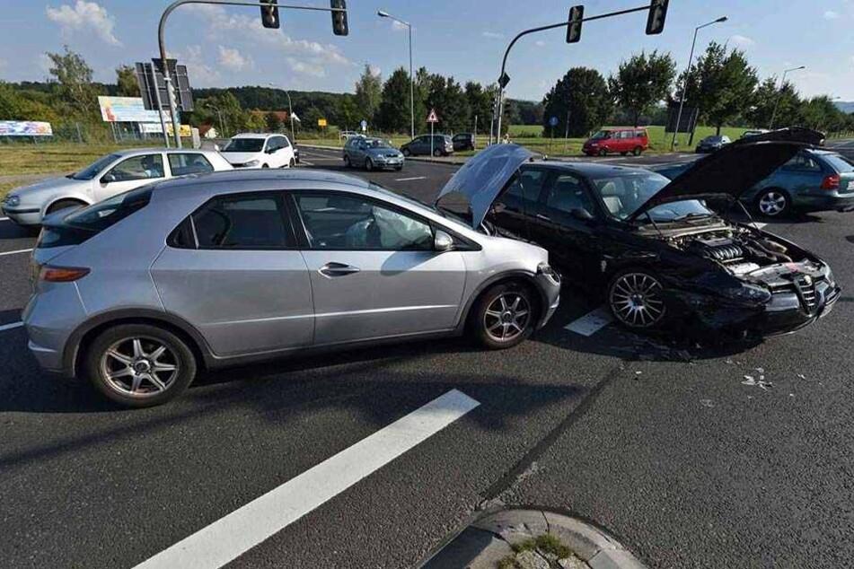 Weil eine Ampel ausfiel, kam es auf der Kreckwitzer Straße in Bautzen zu einem Verkehrsunfall.
