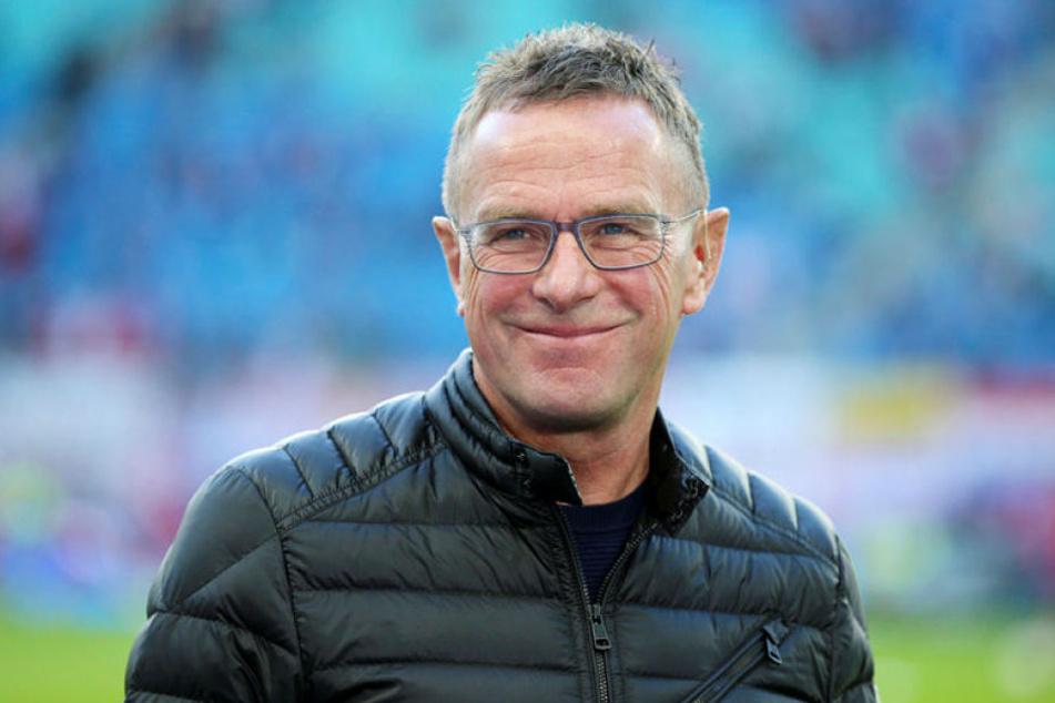Ließ die Bayern vor der Länderspielpause hinter sich und hat gut lachen: RB-Trainer und Sportdirektor Ralf Rangnick.