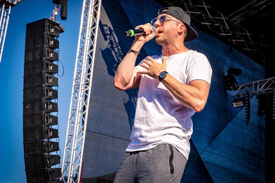 Rapper Frauenarzt tritt auf dem Festival auf.