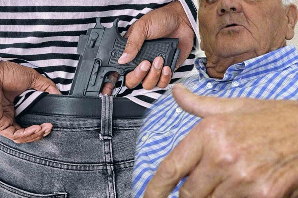 Opa schlägt Pistolen-Räuber mit coolem Spruch in die Flucht