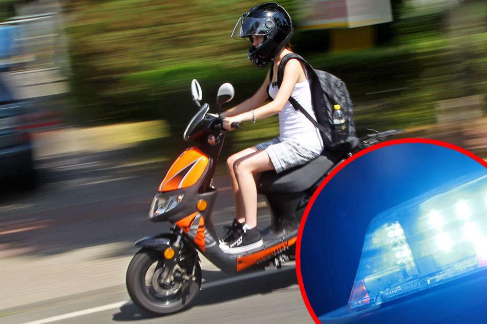 Die 16-jährige Mopedfahrerin stürzte bei dem Vorfall und musste ins Krankenhaus gebracht werden. (Symbolbild)