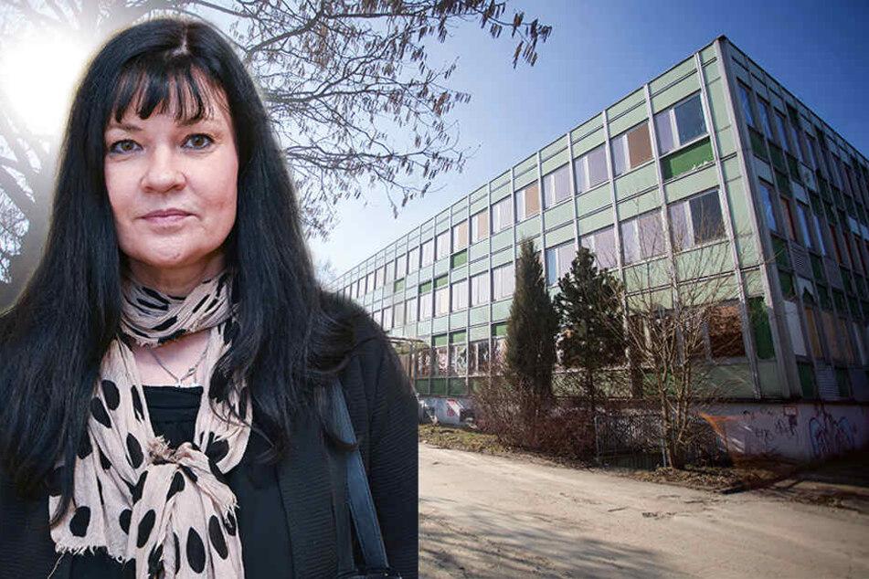 Einst Grundschule, heute übt in dem Gebäude an der Janka-Straße die Polizei. Dadurch wird die Bausubstanz nicht besser. Stadträtin Ines Saborowski (50, CDU) macht Druck für den Ausbau der Adelsberger Grundschule.