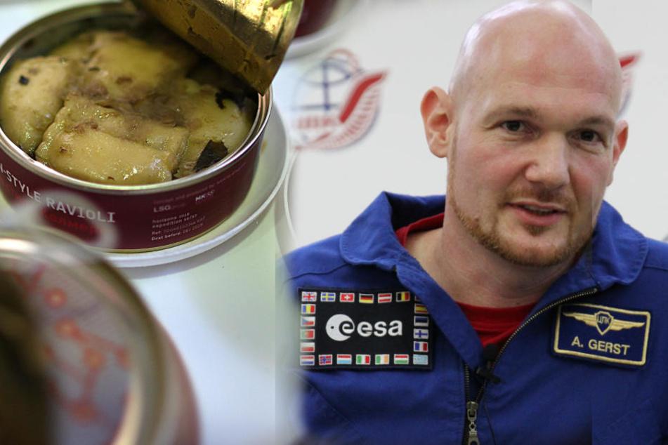 Alexander Gerst (41) hat auf der ISS eine überschaubare Essens-Auswahl.