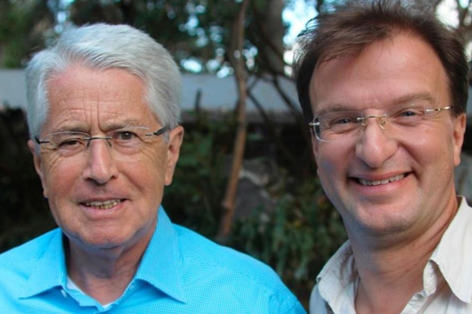 """Frank Elstner (l.) und Matthias Reinschmidt sind in Dokumentationen der SWR-Sendung """"Elstners Reisen"""" zu sehen. Am Freitag sind sie im MDR-""""Riverboat"""" zu Gast."""