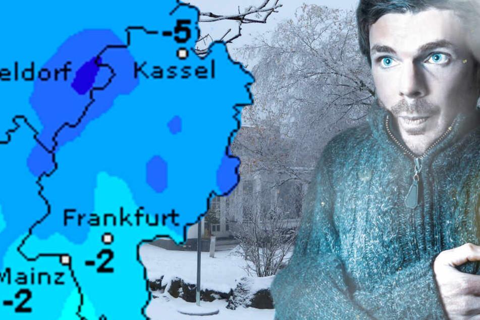 Schnee und Eis liegen auf der Wasserkuppe, doch der Dauerfrost in Hessen ist bald zu Ende.