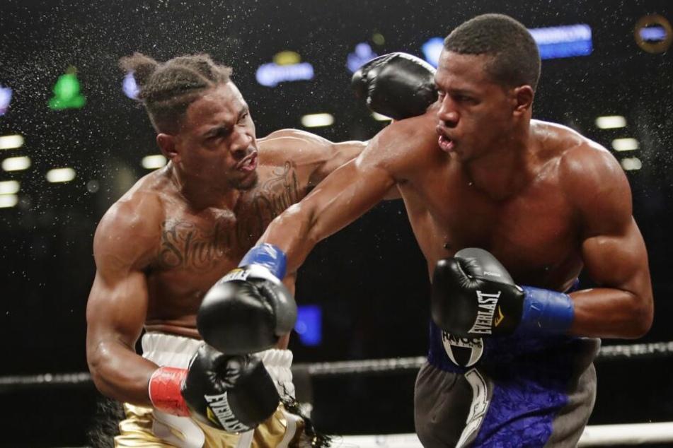 Boxkampf: Kyrone Davis (li.) gegen Patrick Day. (Archivbild)