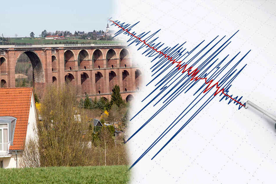 Im Vogtland ist es in den vergangenen Tagen immer wieder zu Erdbeben gekommen. Das Letzte hatte eine Stärke von 3,5. (Bildmontage)