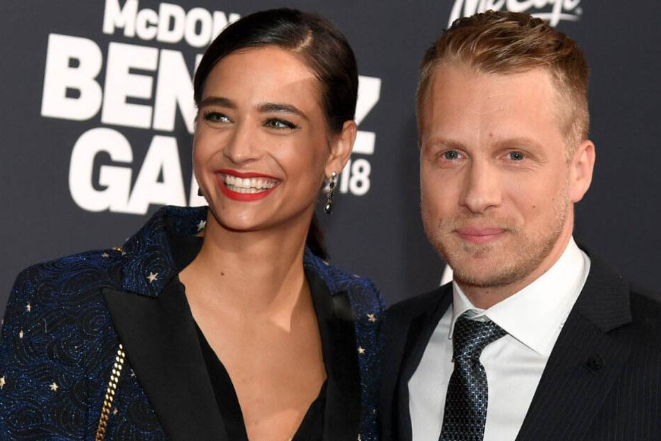 Oliver Pocher und seine schwangere Freundin Amira Aly.