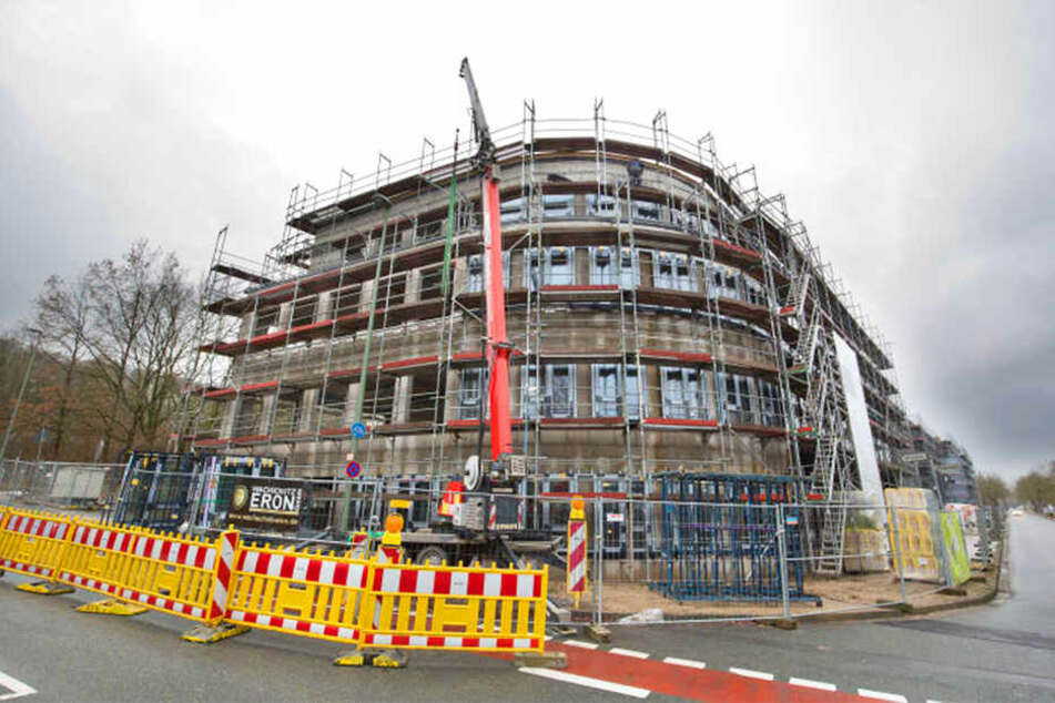 Hier entsteht das Gebäude, in dem 2021 angehende Ärzte studieren sollen.