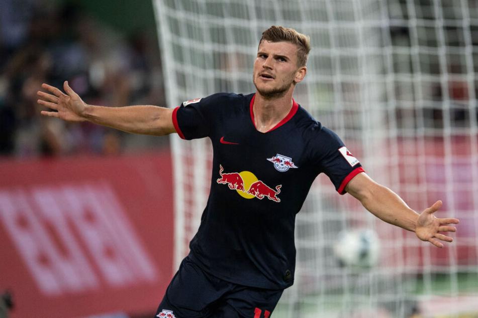 Timo Werner (23) scheint nach der sich über Monate ziehende und nun erfolgte Vertragsverlängerung den Kopf komplett frei zu haben.