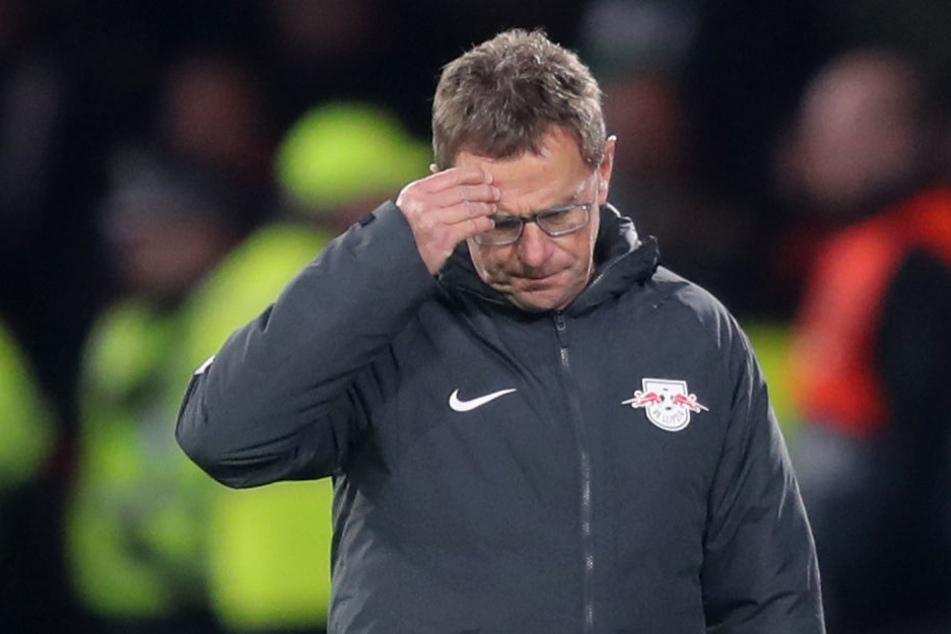 Ralf Rangnick während des Spiels gegen Celtic Glasgow.