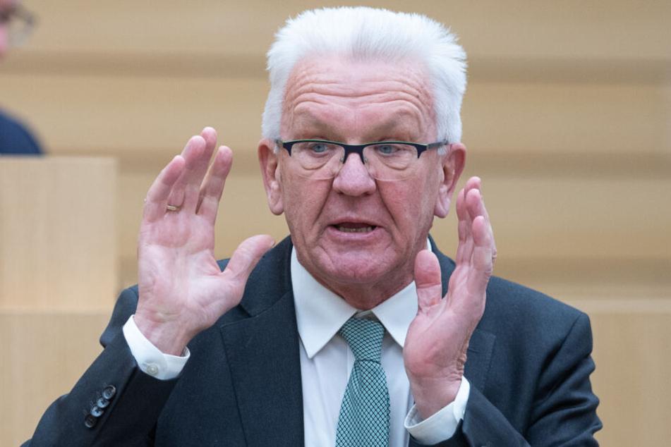 Landesvater Winfried Kretschmann peilt 2021 eine dritte Amtszeit an.
