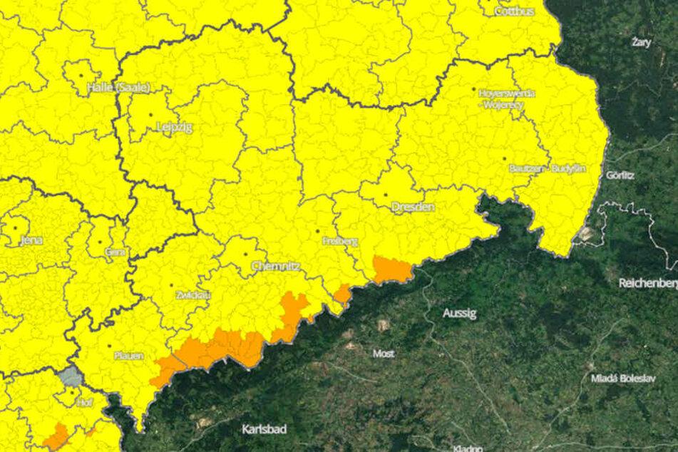 In ganz Sachsen wird es am Sonntag sehr windig bis stürmisch.
