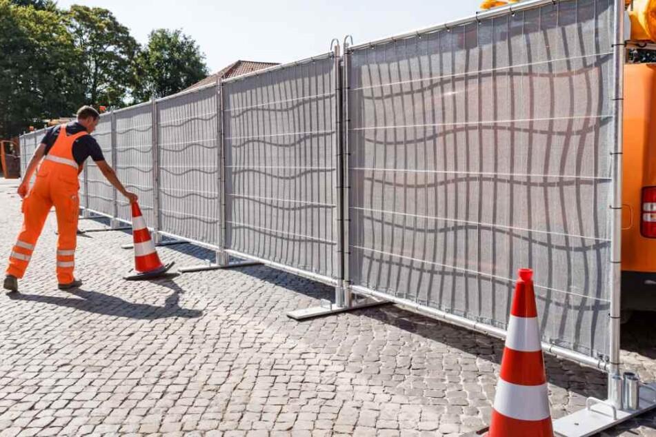 Mobile Sichtschutzwände sollen gegen Gaffer helfen. (Symbolbild)