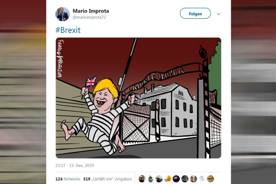 Geht diese Karikatur zu weit?