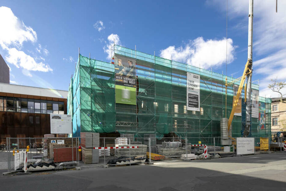 Die Arbeiten am Reaktanz-Gebäude dauern noch ein Jahr.