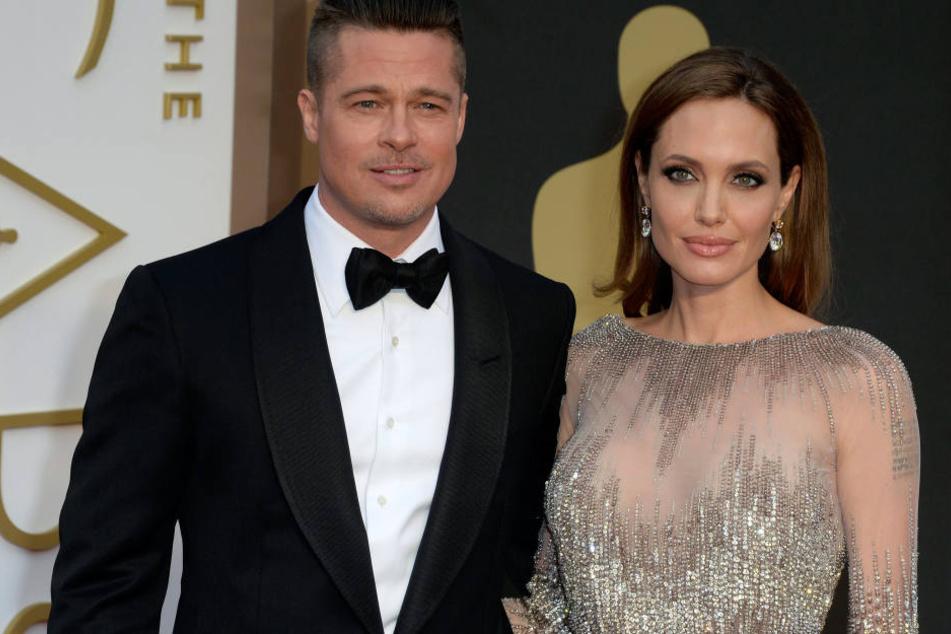 Damals schienen Brad Pitt und Angelina Jolie noch glücklich miteinander zu sein..