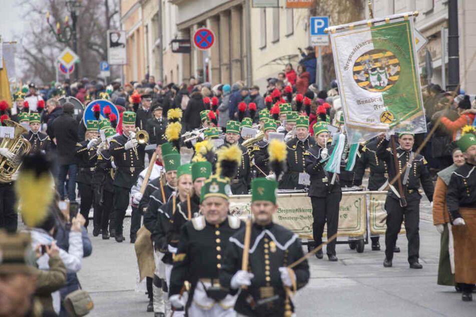20.000 Zuschauer bei Bergparade in Annaberg-Buchholz