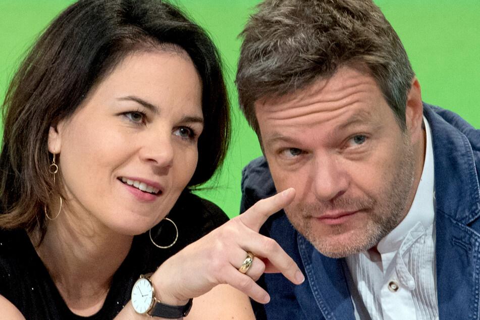 Annalena Baerbock und Robert Habeck, die Bundesvorsitzenden von Bündnis 90/Die Grünen.