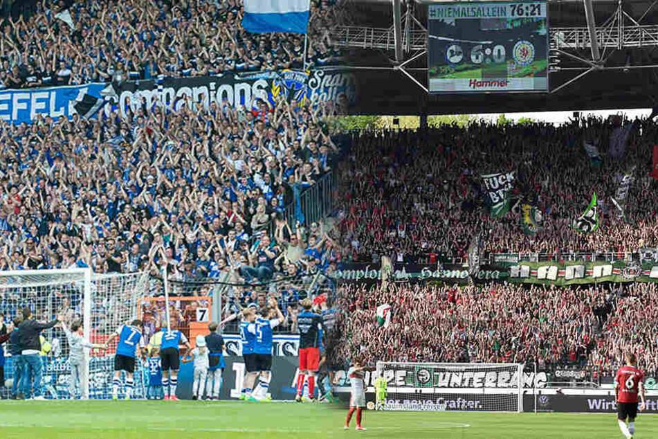 In Bielefeld und in Hannover wurde gefeiert. Beide Clubs verbindet eine enge Fan-Freundschaft.