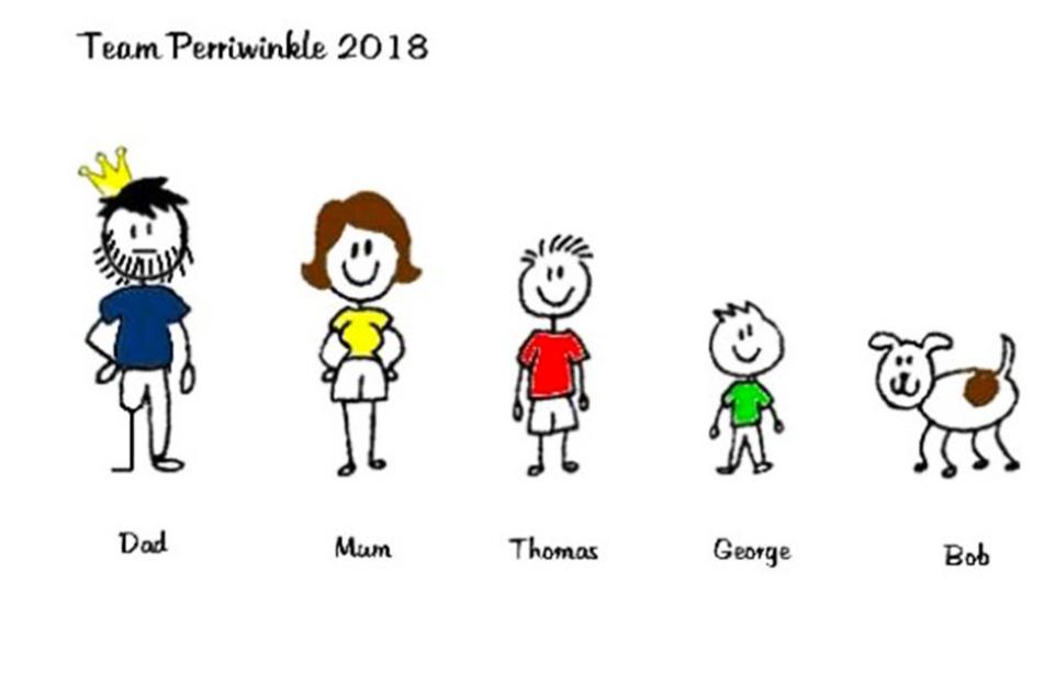 Bild von Perry und seiner Familie auf der Crowdfunding Website.