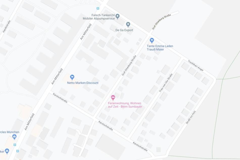 Der Überfall auf den Taxifahrer hat sich in der Graf-Ottenburg-Straße in München ereignet.