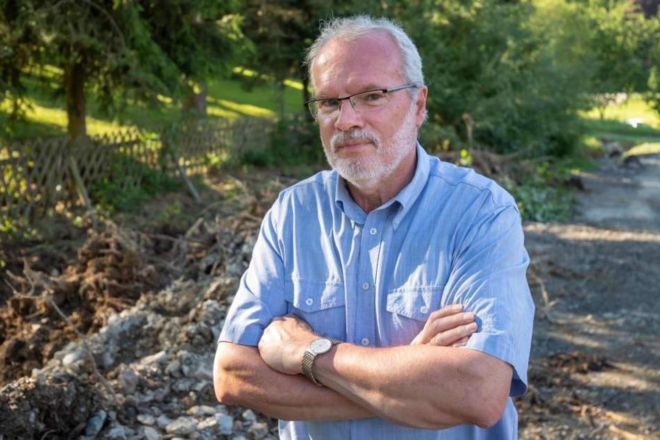 Markneukirchens Bürgermeister Andreas Rubner (62) lobt die Anwohner.