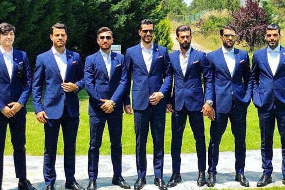 Auf dem Fußballfeld sieht der iranische WM-Kader zwar nicht so schick aus, aber immer noch sehr sexy.