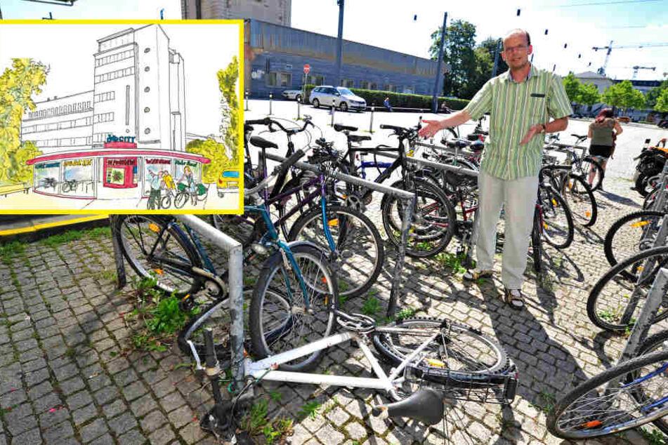 ADFC fordert ein Fahrrad-Parkhaus für Chemnitz