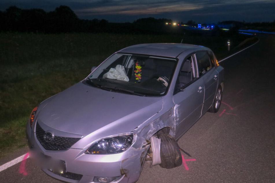 Der Mazdafahrer geriet auf die Gegenfahrbahn.