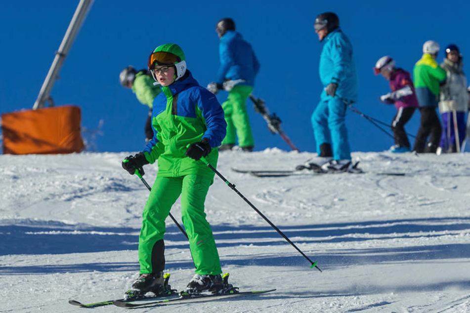 Dank Schneemaschinen: Die Pisten waren für die Wintersportler bestens präpariert.