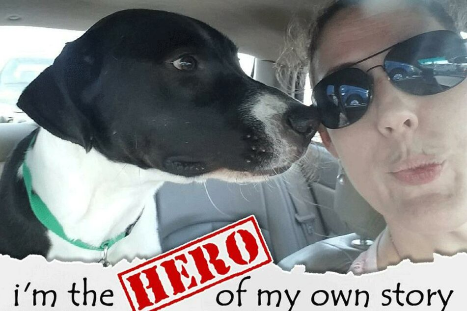 """""""Ich bin der Held meiner eigenen Geschichte"""" schreibt Frauchen Laura Smith über ihren Hund."""