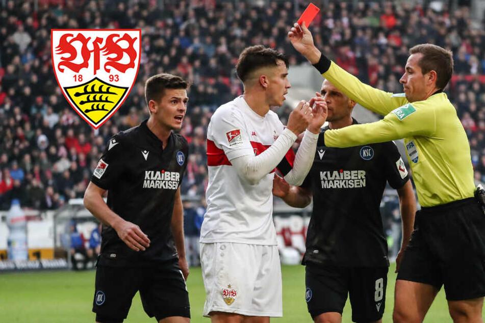 Rote Karte bei Derby-Foul: VfB muss drei Spiele ohne Kempf auskommen