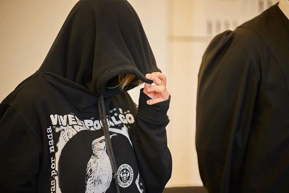 Brit S. (24) im Februar vor Gericht.